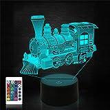 3D Zug Illusion Lampe, CooPark Lokomotive LED Optisches