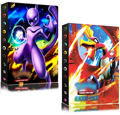 Álbum de Fundas Cartas Cromos Albunes Pokemon Carpeta de Titular de Tarjetas...