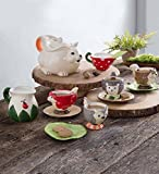 Magic Cabin Children's Food Safe Ceramic Woodland Friends 12 Piece Tea Set