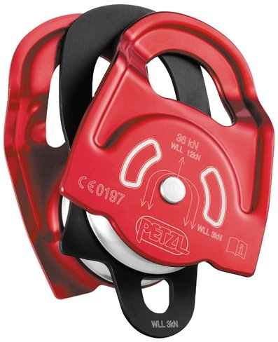 PETZL P65A - Polea para Cables metálicos (Doble), Color Rojo