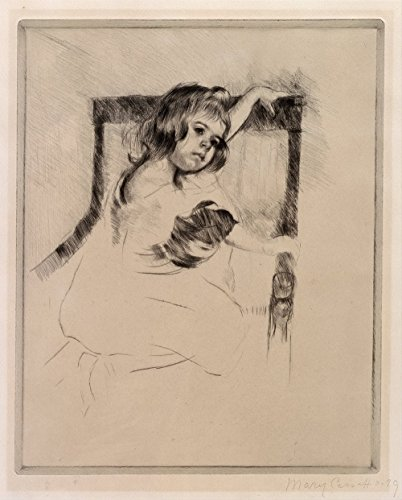 Mary Cassatt - Kneeling in an Armchair - Small - Matte Print