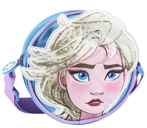 Sac à bandoulière 3D enfant fille Disney La Reine Des Neiges Bleu/violet 16x16x5cm