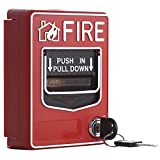 UHPPOTE Wired Emergency Fire Alarm Station 9-28VDC Conventional Dual Action Manual Call Point