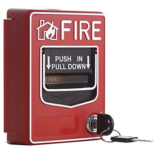 UHPPOTE 9-28VDC Convencional Manual Punto De Llamada Incendio Fuego Push In Pull Down Alarma De Emergencia