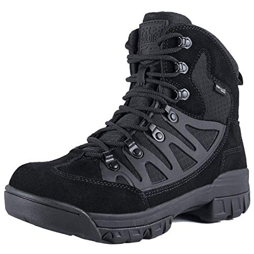 FREE SOLDIER Outdoor Men's Tactical Military Combat Ankle Boots Waterproof Lightweight Mid Hiking Boots