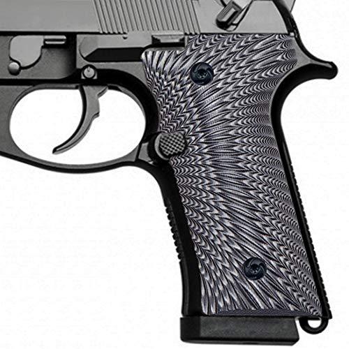 Guuun G10 Grips for Beretta M9A3 & Beretta 92 Vertec, Sunburst Tactical Texture - Grey/Black