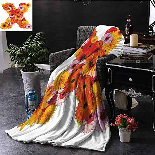 GGACEN bont deken Vibrant Gekleurde Muziek Tekenen en Symbolen op Capital X Artistic Lively ABC Design Camping deken - het gooien van een deken