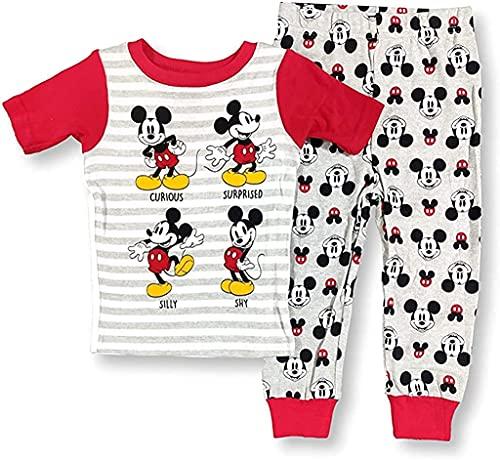 Mickey Mouse - Pijama de 2 piezas para bebé y niño, gris, 9 Meses