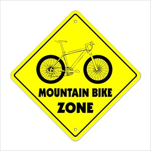 cwb2jcwb2jcwb2j Metalen Tin Teken Wanddecoratie Mountainbike Crossing Decal Tall Jump Trail Banden Remmen Gear Olie 12x12 Inches