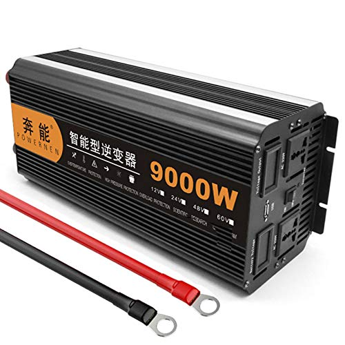 Kymzan Reiner Sinus Wechselrichter 3200 W / 4000 W / 5000 W / 6000 W / 8000 W / 9000 W / 12000 W / 15000 W Spannungswandler DC 12V/24V Auf AC 230V Umwandler - Inverter Konverter,24V-9000W