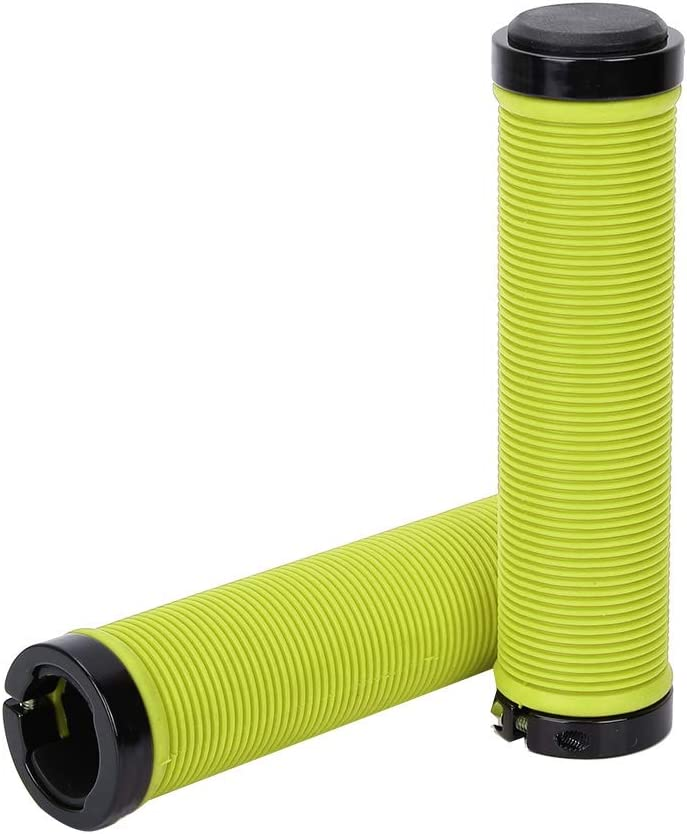 VGEBY1 Handlebar Grips Anti-Slip Soft Rubber Double Lock-on Handlebar End Grips with Plugs for Mountain Road Bike