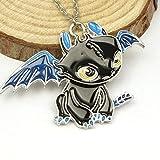 TopschnaeppchenDSH© Halskette mit süßem Ohnezahn Drachen Anhänger aus Drachenzähmen leicht gemacht