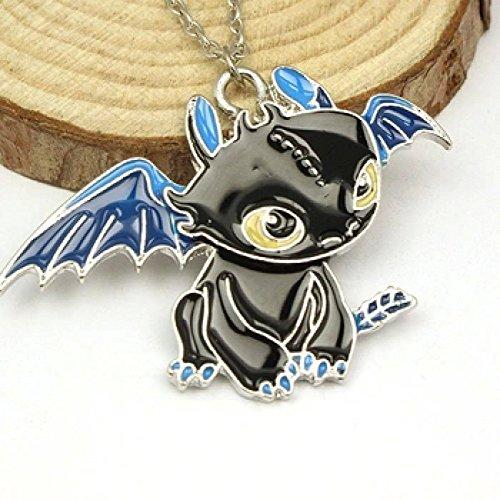 Halskette mit süßem Ohnezahn Drachen Anhänger aus Drachenzähmen leicht gemacht