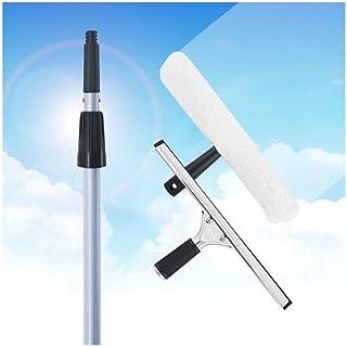 OTFZ Glass Wiper Cleaning Kit With Telescopic Extension Rod Applicator Wiper Glass Tool Glass Scraper Scraper (Color : White)