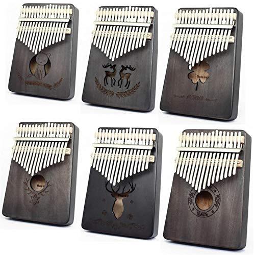 SYXMSM Kalimba 17-Key Mahagoni Korpus Daumenklavier 17 Instrumente Finger Klavier Kalimba Kalimba Instrument (Color : A)