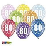 Globos 80° Cumpleaños Mezcla Metálica (30 cm)