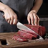 PAUDIN Kochmesser Küchenmesser 20cm Profi Messer Chefmesser Allzweckmesser aus hochwertigem Carbon Edelstahl, Extra Scharfe Messerklinge mit ergonomischer Griff - 3