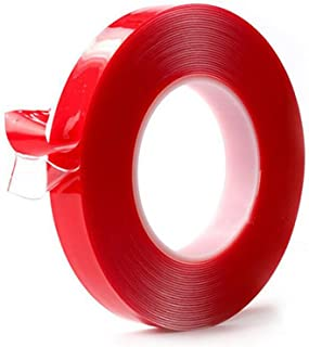 3M Heat Resistant Acrylic Double Sided Adhesive Tape Roll,Clear Sticker for Car/Cell Phone Repair,Red, 3 m×10 mm×1 mm