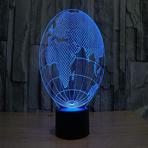 Yyhmkb Infantil Bluetooth Luz De Noche Para Luz De Noche Infantil Bebe Lampara De Globo 3D Luz Colorida Carga Visual Táctil Led Gradiente De Luz Nocturna Colorida