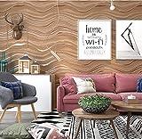 3D Papel Pintado No Tejido marron oscuro mural Papel Pintado Patrón de onda flocado Arte Moderno Diseño Salón TV Fondo De Pantalla Papel Tapiz para Las Paredes del Dormitorio