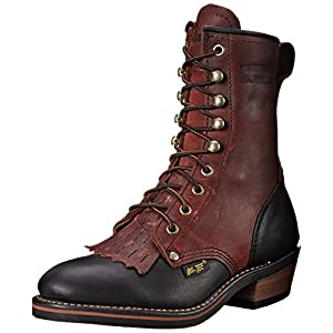 Adtec Women's 8″ Packer Dark W Boot, Cherry/Black