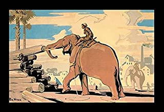 "Póster con texto en inglés ""A boy guide his elephant move enorme trees into large woober piles"" del Imperio Británico de Marketing Board, madera Stacking Burma 1928 Póster impreso por desconocido (18 x 24)"
