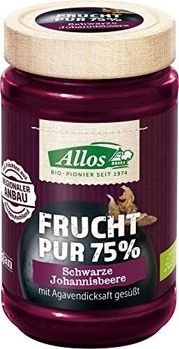 Allos Bio Frucht Pur 75% Schwarze Johannisbeere (6 x 250 gr)