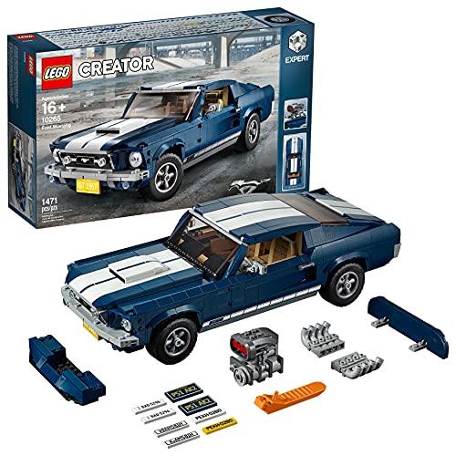 LEGO Creator Expert - Ford Mustang, Maqueta para Construir el Emblemático Coche Deportivo, Regalo Coleccionable a Partir de 16 Años, Incluye Numerosos Detalles (10265)