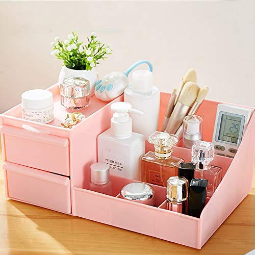 QQDL Caja de Almacenamiento de cosméticos Accesorios cosméticos Organizador de Maquillaje Cajas de Almacenamiento de Maquillaje Color Blanco Organizador de joyería multifunción para Maquillaje