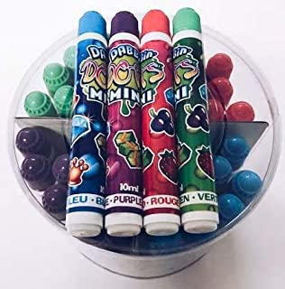 United Novelty Dabbin Dots Mini Daubers- Container of 48- Twelve of Each Color- Red, Blue, Green, Purple