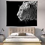 CYYyang Tapiz Tapiz Tapiz Tapiz de Pared para Sala de Estar Dormitorio Tapiz de decoración del hogar león Blanco y Negro