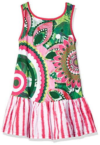 Desigual Girl Knit Dress Sleeveless (Vest_Helena) Vestido, Verde (Green Kitting 4038), 152 (Talla del Fabricante: 11/12) para Niñas