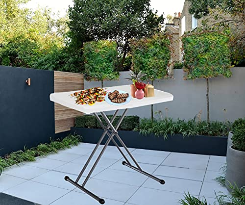 Heavy Duty 2.5ft Folding Table Portable, Outdoor Camping Catering Picnic Table, Foldable Garden Table Trestle Table For BBQ Party