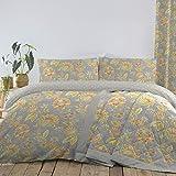Dreams & Drapes Marinelli - Juego de Funda nórdica de fácil Cuidado, algodón poliéster, Diseño de Flores, Duvet Cover Set: King