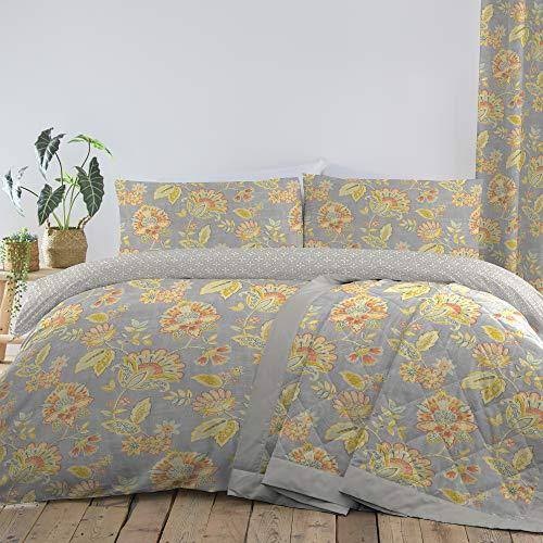 Dreams & Drapes Marinelli - Juego de Funda nórdica de fácil Cuidado, algodón poliéster, Diseño de Flores, Duvet Cover Set: Super-King