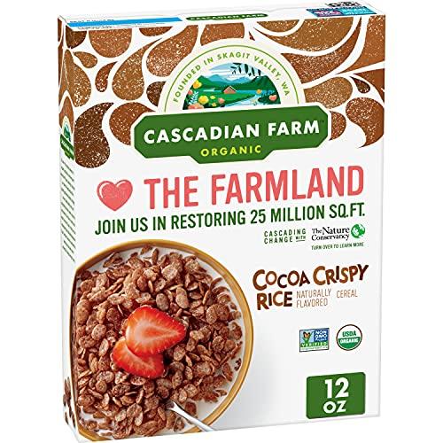 Cascadian Farm Organic Cocoa Crispy Rice Cereal, Gluten Free, 12 oz
