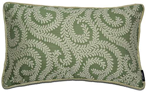 McAlister Textiles Petite Feuille Housse de Coussin avec Velours   Assortiment de Taies d'oreiller avec Motifs Géométriques Fauteuil pour Sofa, Canapé et Lit   Dimension - 50x30cm   Couleur Vert