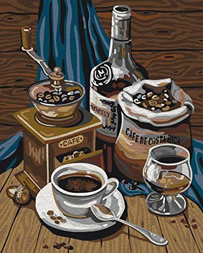 Puzzle 1000 Piezas Adultos Puzzle De Madera Puzzle Clásico Diy Estilo De Pintura Al Óleo De Café Ocio Entretenimiento Puzzle Regalo 75X50Cm