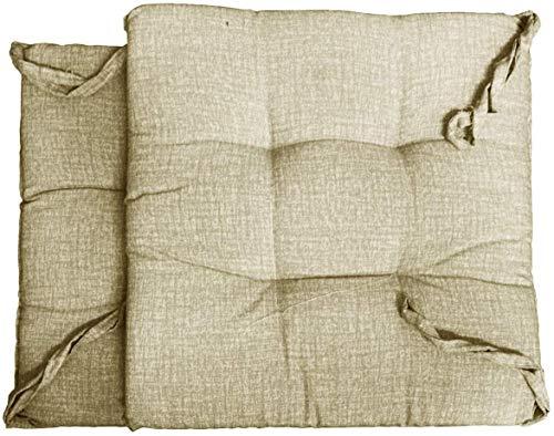 Cojín de silla para interior y exterior, de resina, impermeable, 40 x 40 cm, beige (beige, 40 x 40 cm)