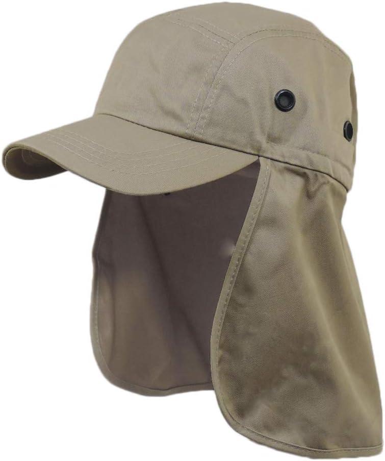 Khaki Brown Cap Sun Protection Foreign Legion Flap Hat