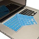 Arabisch-Englische Silikon ISO Abdeckung für MacBook, Air und Pro Tastatur, EU-Enter - BLAU