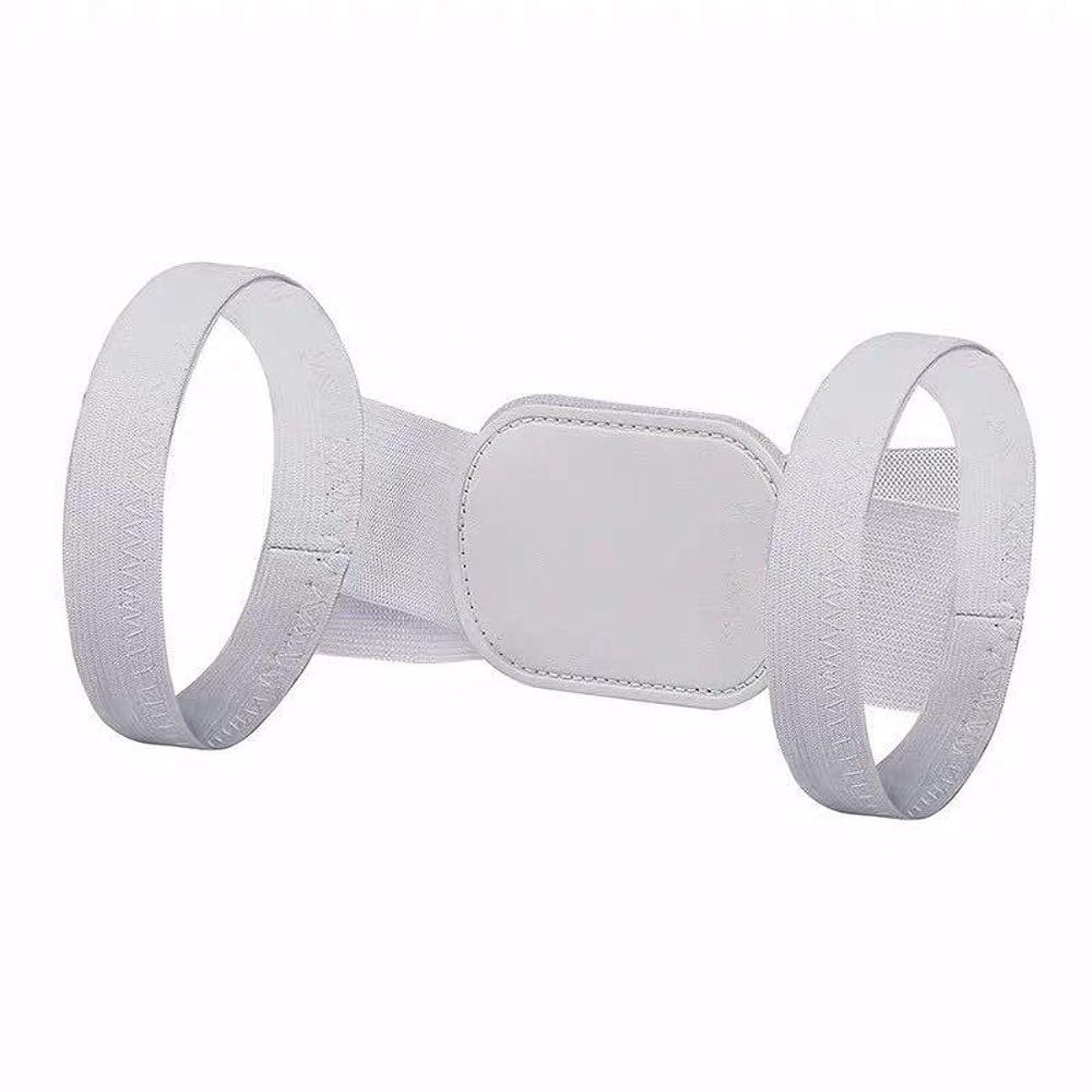 びん特殊アレルギー性MILUCE 主に悪い姿勢を改善するために使用POSTURE CORRECTOR FOR男性と女性-Adjustable戻るストレイテナー (Color : White)