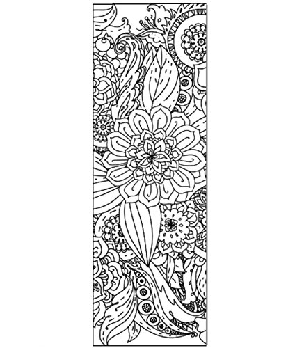 Floral Color Your Own Bookmarks - Anti Stress - Art Therapy - Adult Coloring - 50 Pack All The Same Design - Great for Large Groups - Coloring Contests - Improved Paper - Book Marks with No Bleed