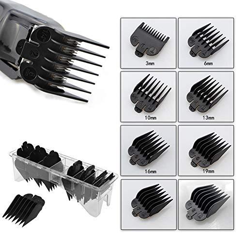 Kammführung, 8 Stück Professionelle Haarschneidemaschine Kammführung Set Haarschneider Ersatzteile Haarstyling Limit Kämme Haarschnitt Zubehör