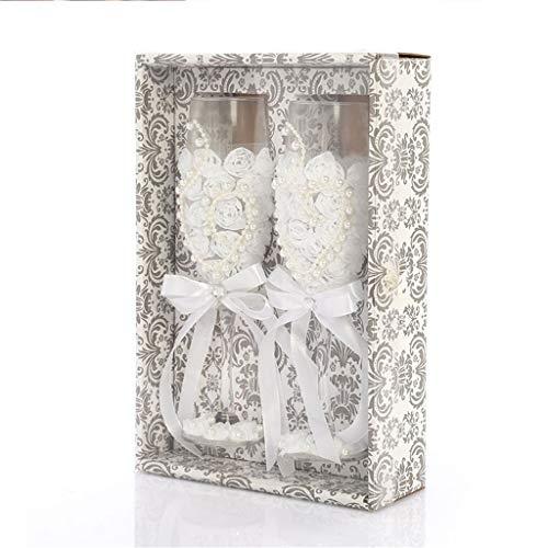 Champagneglazen, set van 2 stuks, glazen, bruiloft, rooster, kristal, fluit voor jonge bruid, wijndrinken, L voor feestjes, thuis als geschenken bruiloft, decoratie Helder