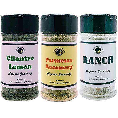 Sale!! Premium | POPCORN SEASONING | Variety 3 Pack | Parmesan Rosemary Popcorn Seasoning | Cilantro...