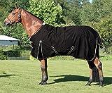 ELDORADO Regendecke für Pferde - schwarz - 145 cm