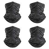 4 PCS Balaclava for Face Shield Dust Wind UV Sun Protection, Neck Gaiter Headwear, Bandana Outdoor Face Shield for Women Men Face Scarf