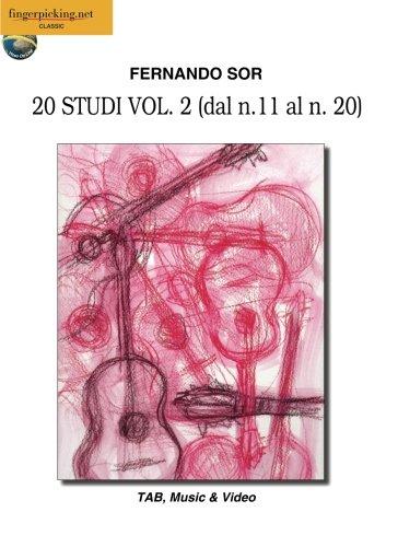 Fernando Sor: 20 Studi Vol. 2 (dal n. 11 al n. 20): Video on Line (Italiano, English, Français, Español, Deutsch) (Classica)