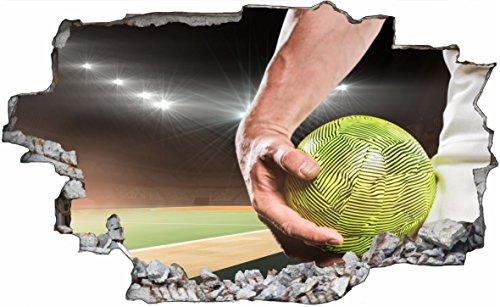 DesFoli Handball Sport 3D Look Wandtattoo 70 x 115 cm Wanddurchbruch Wandbild Sticker Aufkleber C621